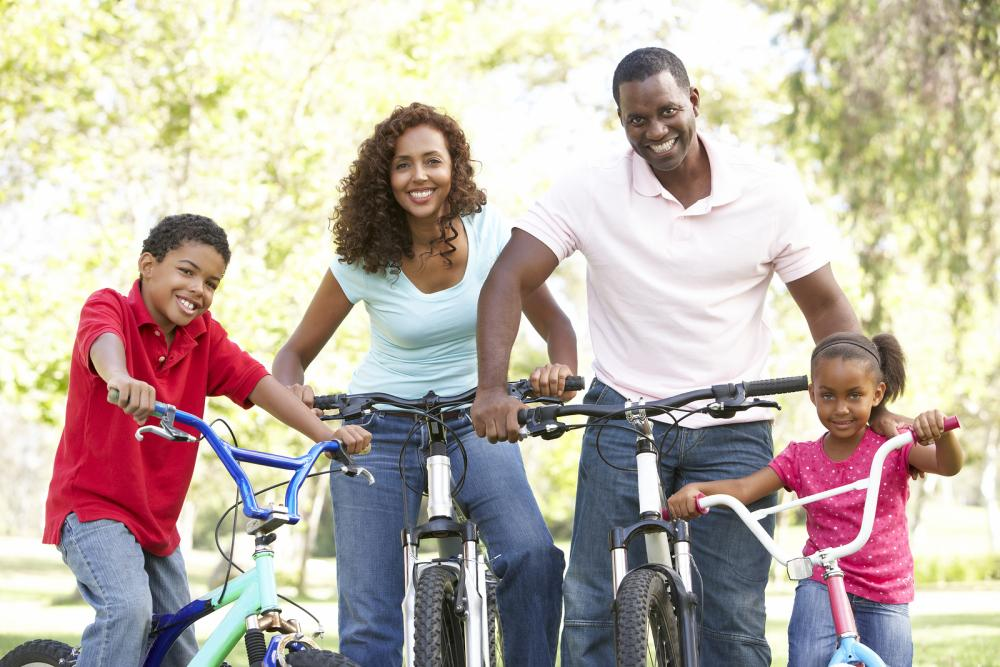 Happy Family Bike Ride